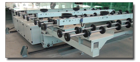 loading and tilting machines for glass sheets