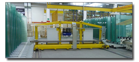 Shuttle storage systems for glass sheets